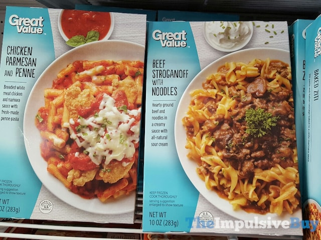 Great Value Chicken Parmesan and Beef Stroganoff Entrees