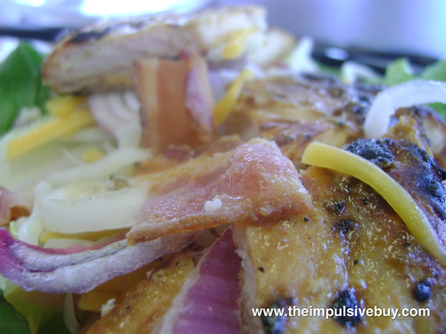 Burger King Chicken B.L.T. Garden Fresh Salad Chicken Closeup