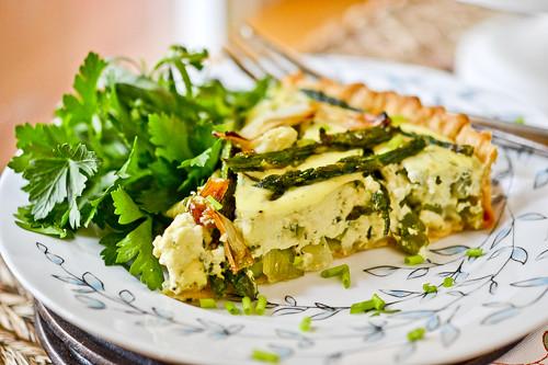 Spring Vegetable & Goat Cheese Tart 4