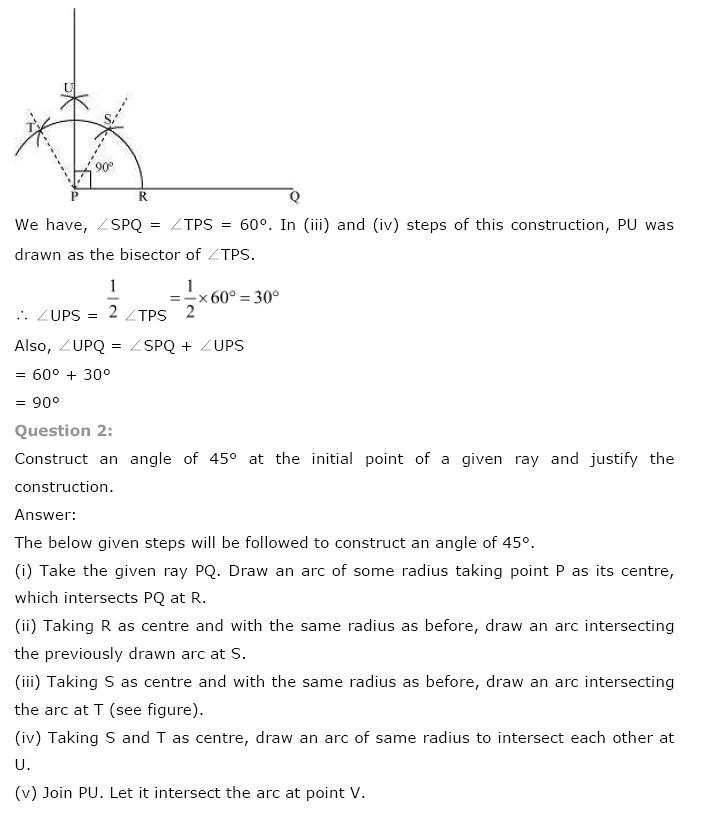 NCERT Solutions for Class 9th Maths: Chapter 11 Constructions