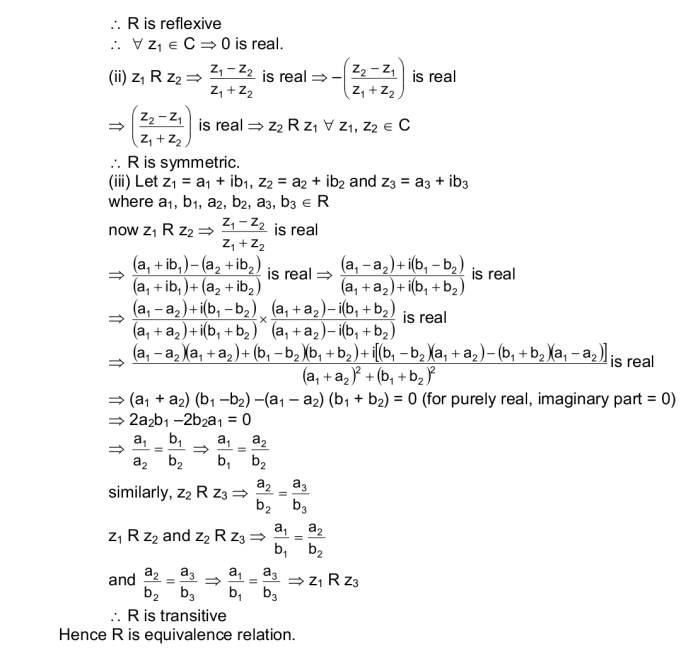 CBSE Class 11 Maths Notes: Relations and Functions   Equivalence Class and Relation Image by AglaSem