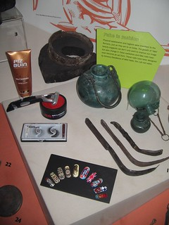 WAH nails etc amongst Roman health accoutrements, Londinium 2012 at Museum of London