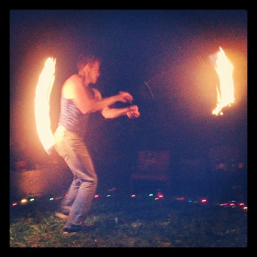 Oh, and my birthday included fire dancing. No biggie or anything.