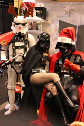 Santa Vader and Reindeer Storm Trooper - Star Wars Celebration VI