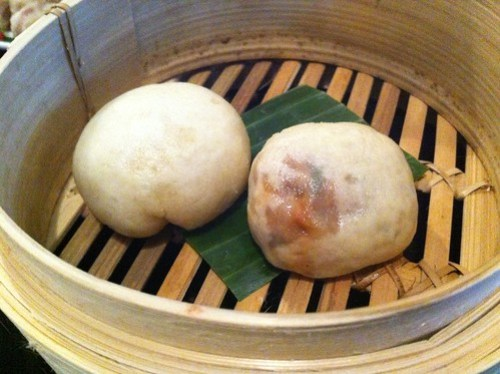 Red braised bbq pork buns