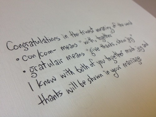What to write for a congratulations note in a wedding card - Spudart