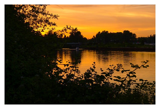 Sunset on the Courtenay River