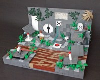 Portal 2 test chambers in Lego | The Brothers Brick | The ...