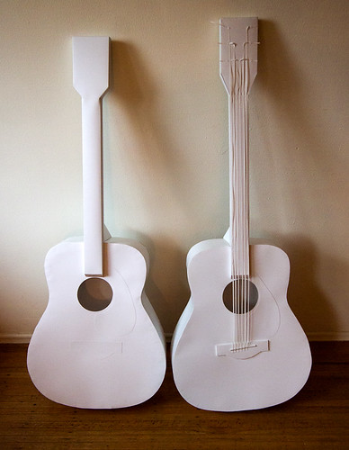 Paper Instruments - acoustic guitars