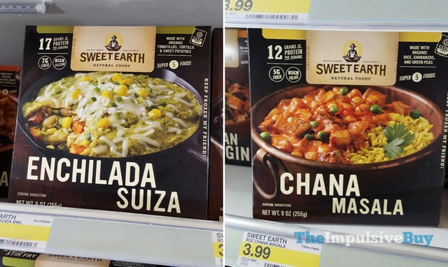 Sweet Earth Natural Foods Enchilada Suiza and Chana Masala