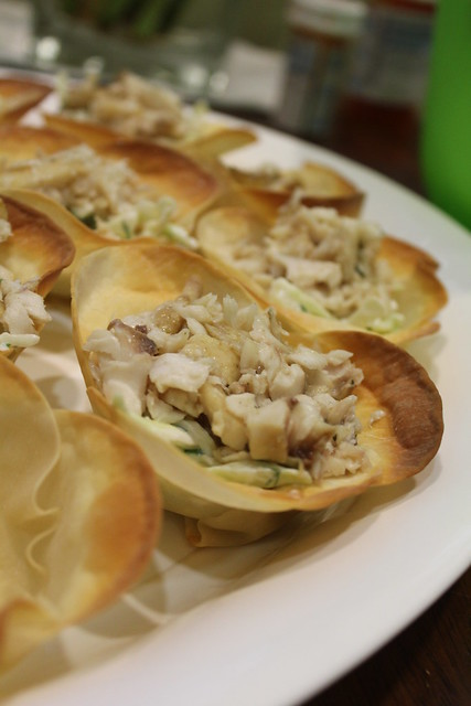 fish in wonton wraps