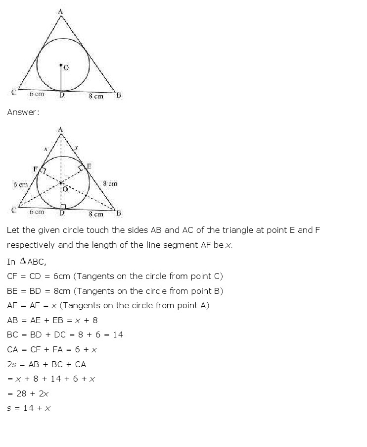 NCERT Solutions for Class 10th Maths: Chapter 10   Circles