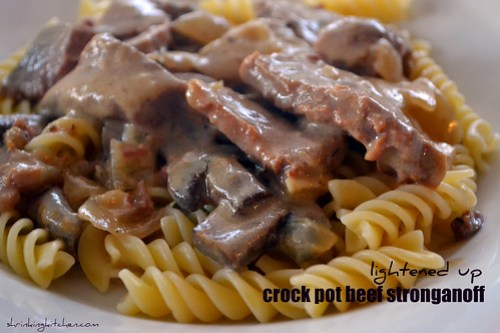 lightened up crockpot beef stroganoff