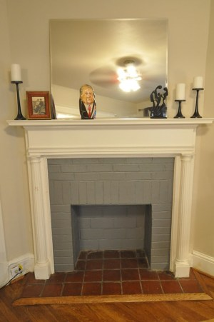 Grey Fireplace bricks