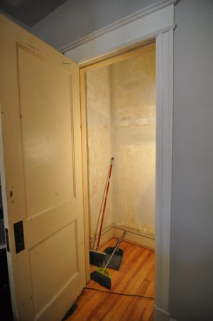 master bedroom closet patched
