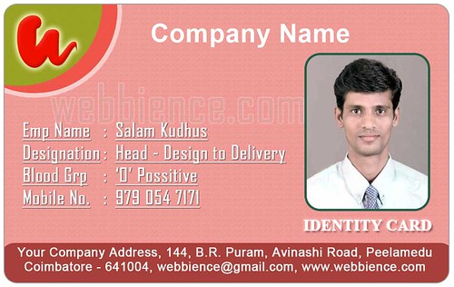 Free ID Card Templates ID Card Templates - Set 001 - Webbience - free id badge templates