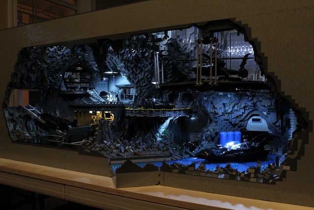 8074989784 d62ce6992c z The Bat Cave Built From 20,000 Lego Parts
