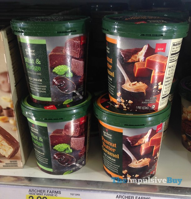 Archer Farms Mint & Fudge and Peanut Butter Caramel Ice Creams