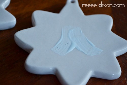 Porcelain Star Ornament Tutorial Step 1