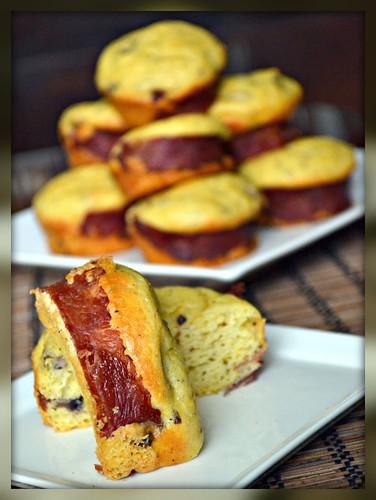 Portabella and Turkey Corn Cakes