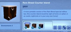 Rare Breed Counter Island