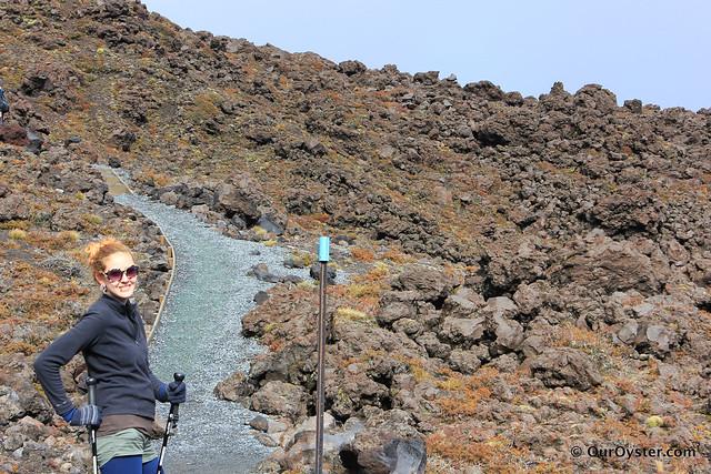 The beginning of the Tongariro Crossing