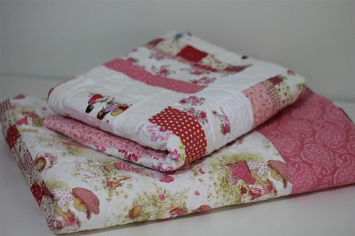 The girls' quilts...