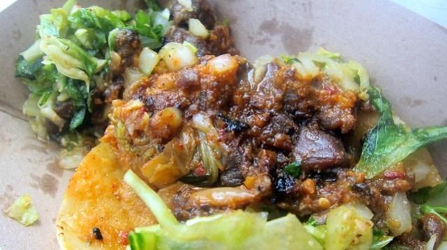 spicy pork taco at kogi