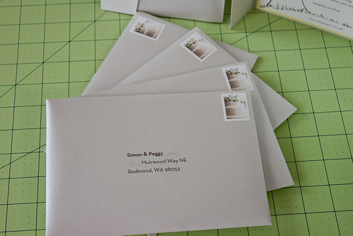 vicky and things How to print addresses on A-7 envelopes using