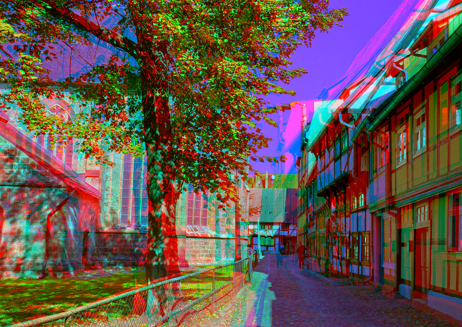 3d Stereograms Wallpaper Elevation Of Bahnhofstra 223 E 4a Bad Suderode Germany