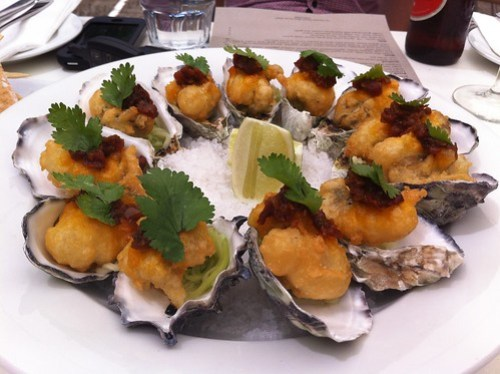 Tempura Oysters at Table 78
