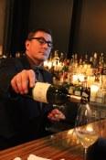 Neil Ingram pours a glass at Boneta (now closed)