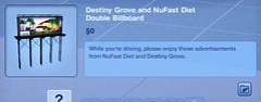 Destiny Grove and NuFast Diet Double Billboard