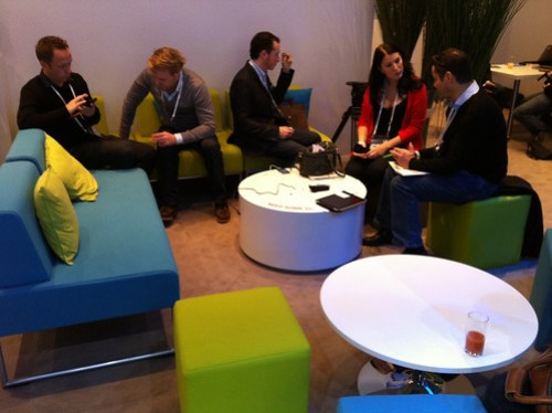 Renault lounge at Le Web -- cozy!