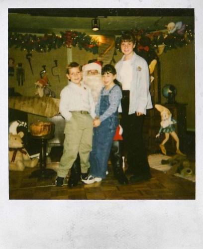 Polaroid of Santa