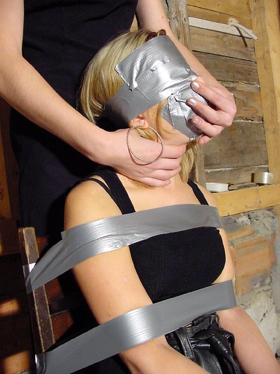duct tape bound and gagged