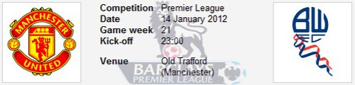 6694463015 9a2b4d8a6a Manchester United vs Bolton Wanderers | Barclays Premier League | Live Results | Week 21