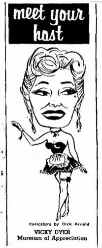 chandelier hostess charicature