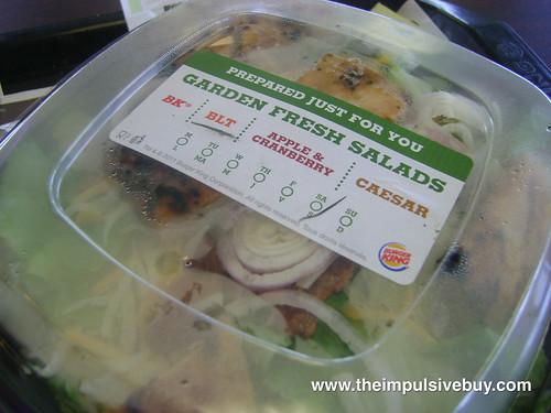 Burger King Chicken B.L.T. Garden Fresh Salad