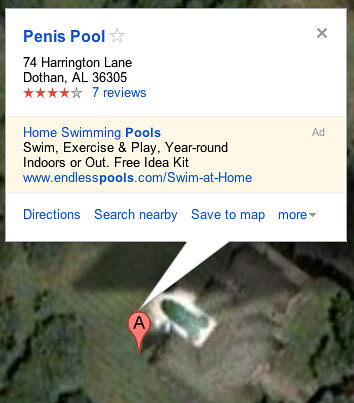 Penis Pool satellite view