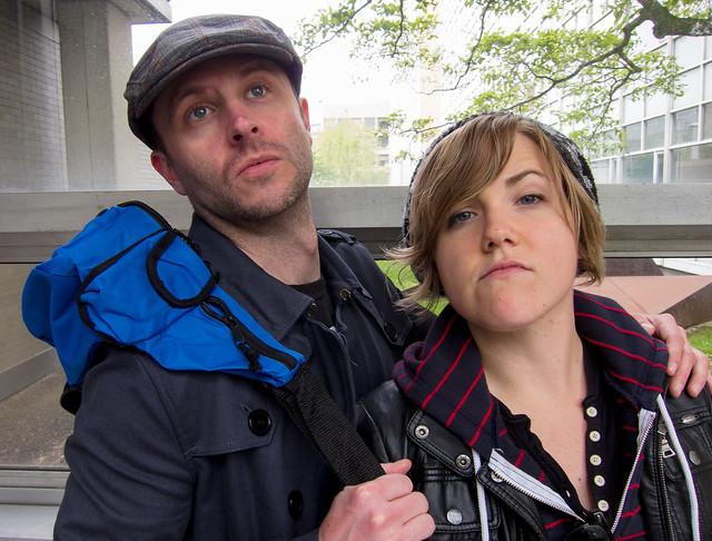 Chris Hardwick and Hannah Hart