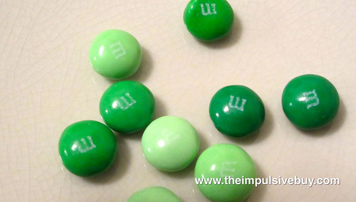 Mint Dark Chocolate M&M's Closeup
