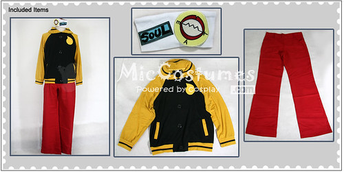 Soul Eater Soul Evans Cosplay Costume_2