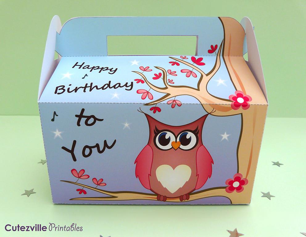 Printable Birthday Owl Etsy birthday owl box 2Treat Box Se\u2026 Flickr