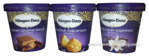 Haagen-Dazs Limited Edition Flavors (Coconut Macaroon, Vanilla Bean Espresso, and Spiced Caramel Biscuit)-WM