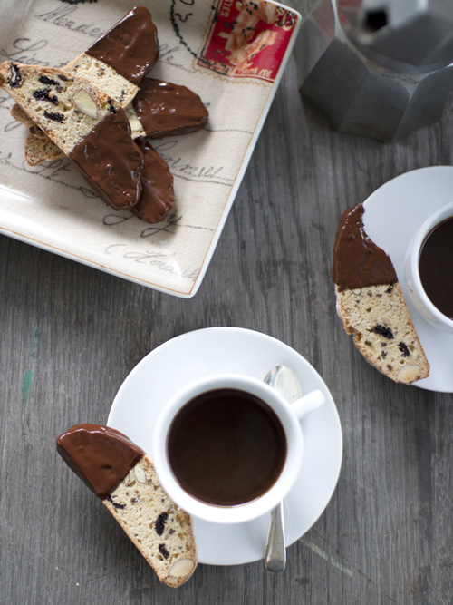 Sour Cherry and Cocoa Nib Biscotti