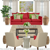 Oronovelo: Red Couch Decorating Ideas