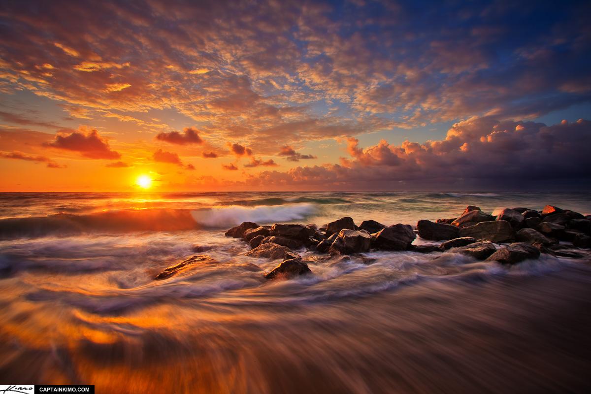 Fall Cape Cod Wallpaper Boynton Beach Ocean Inlet Rushing Wave At Sunrise