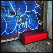 Little red ottoman…baby you're much too fast. Little red ottoman…went to Ikea,   threw you out at last…