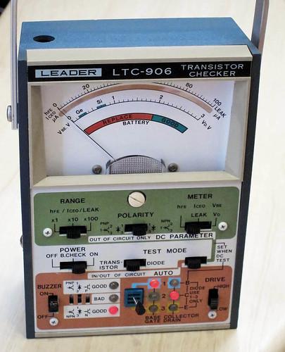 ebay goodie: leader brand transistor tester, working